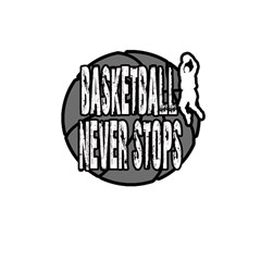 Basketball Never Stops Shower Curtain 48  X 72  (small)  by Valentinaart
