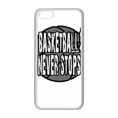 Basketball Never Stops Apple Iphone 5c Seamless Case (white)