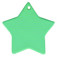Decorative Lines Pattern Star Ornament (two Sides)