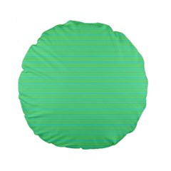 Decorative Lines Pattern Standard 15  Premium Flano Round Cushions