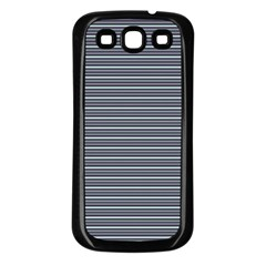 Decorative Lines Pattern Samsung Galaxy S3 Back Case (black)