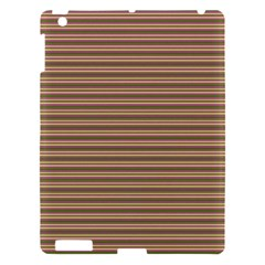Decorative Lines Pattern Apple Ipad 3/4 Hardshell Case by Valentinaart