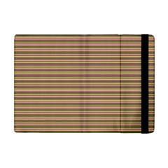 Decorative Lines Pattern Apple Ipad Mini Flip Case by Valentinaart