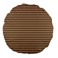 Decorative Lines Pattern Large 18  Premium Round Cushions