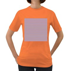 Decorative Lines Pattern Women s Dark T Shirt