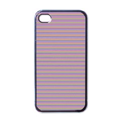 Decorative Lines Pattern Apple Iphone 4 Case (black) by Valentinaart