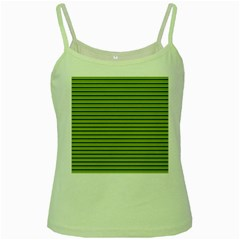 Decorative Lines Pattern Green Spaghetti Tank