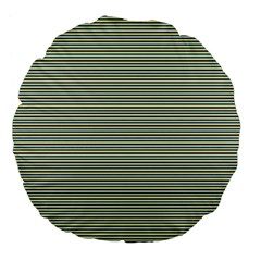 Decorative Lines Pattern Large 18  Premium Flano Round Cushions