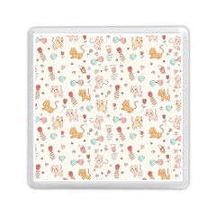 Kittens And Birds And Floral  Patterns Memory Card Reader (square)  by TastefulDesigns