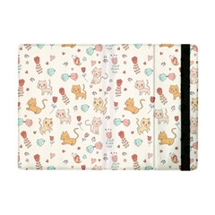 Kittens And Birds And Floral  Patterns Apple Ipad Mini Flip Case by TastefulDesigns