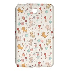 Kittens And Birds And Floral  Patterns Samsung Galaxy Tab 3 (7 ) P3200 Hardshell Case  by TastefulDesigns