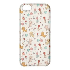 Kittens And Birds And Floral  Patterns Apple Iphone 5c Hardshell Case by TastefulDesigns