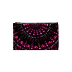 Pink Vortex Half Kaleidoscope  Cosmetic Bag (small)  by KirstenStar