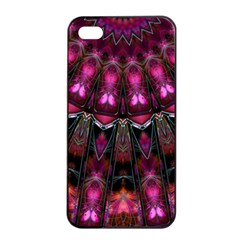 Pink Vortex Half Kaleidoscope  Apple Iphone 4/4s Seamless Case (black) by KirstenStar