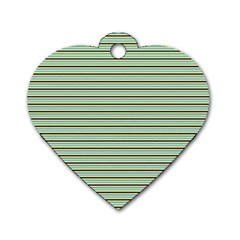 Decorative Lines Pattern Dog Tag Heart (two Sides)