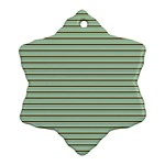 Decorative lines pattern Ornament (Snowflake) Front