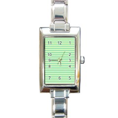 Decorative Lines Pattern Rectangle Italian Charm Watch by Valentinaart