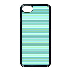 Decorative Lines Pattern Apple Iphone 7 Seamless Case (black)