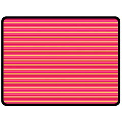 Decorative Lines Pattern Double Sided Fleece Blanket (large)