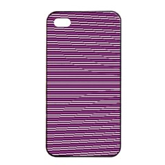 Decorative Lines Pattern Apple Iphone 4/4s Seamless Case (black)