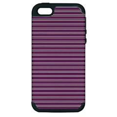 Decorative Lines Pattern Apple Iphone 5 Hardshell Case (pc+silicone) by Valentinaart