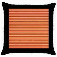 Decorative Lines Pattern Throw Pillow Case (black) by Valentinaart