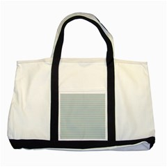 Decorative Lines Pattern Two Tone Tote Bag