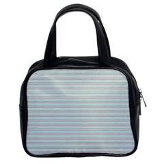 Decorative Lines Pattern Classic Handbags (2 Sides)