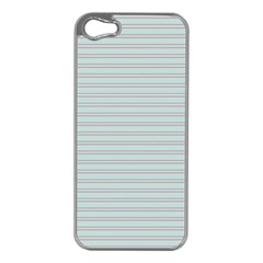 Decorative Lines Pattern Apple Iphone 5 Case (silver) by Valentinaart