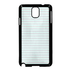 Decorative Lines Pattern Samsung Galaxy Note 3 Neo Hardshell Case (black) by Valentinaart