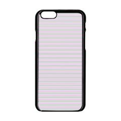 Decorative Lines Pattern Apple Iphone 6/6s Black Enamel Case by Valentinaart
