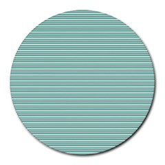Decorative Line Pattern Round Mousepads