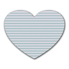 Decorative Line Pattern Heart Mousepads by Valentinaart