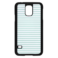 Decorative Line Pattern Samsung Galaxy S5 Case (black) by Valentinaart