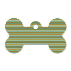 Decorative Line Pattern Dog Tag Bone (two Sides)