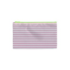 Decorative Line Pattern Cosmetic Bag (xs) by Valentinaart