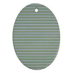 Decorative Line Pattern Oval Ornament (two Sides)