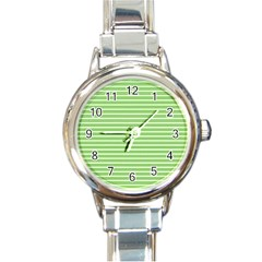 Decorative Line Pattern Round Italian Charm Watch