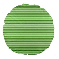 Decorative Line Pattern Large 18  Premium Round Cushions