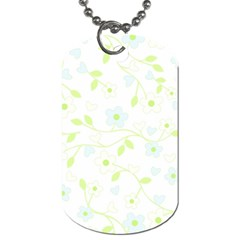 Floral Pattern Dog Tag (one Side) by Valentinaart