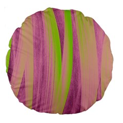 Artistic Pattern Large 18  Premium Round Cushions