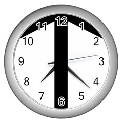 Grapevine Cross Wall Clocks (silver)  by abbeyz71