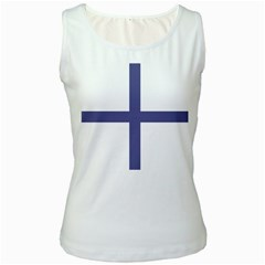 Greek Cross  Women s White Tank Top by abbeyz71