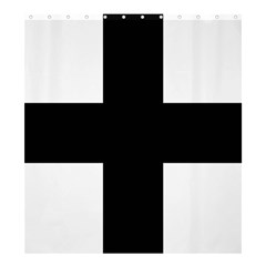 Greek Cross Shower Curtain 66  X 72  (large)  by abbeyz71