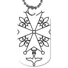 Huguenot Cross Dog Tag (one Side) by abbeyz71