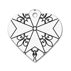 Huguenot Cross Dog Tag Heart (two Sides) by abbeyz71