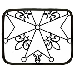 Huguenot Cross Netbook Case (large) by abbeyz71