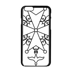 Huguenot Cross Apple Iphone 6/6s Black Enamel Case by abbeyz71