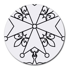 Huguenot Cross Round Mousepads by abbeyz71