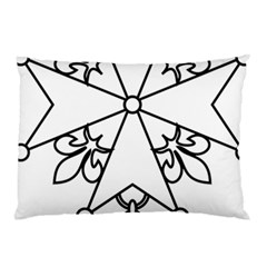 Huguenot Cross Pillow Case (two Sides) by abbeyz71